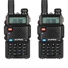 Bộ 2 Bộ Đàm Baofeng UV 5R Interphone Bộ Đàm 2 Chiều Đài Phát Thanh FM Thu Phát 2 Băng Tần DTMF VOX Báo Thức Đèn LED móc Khóa
