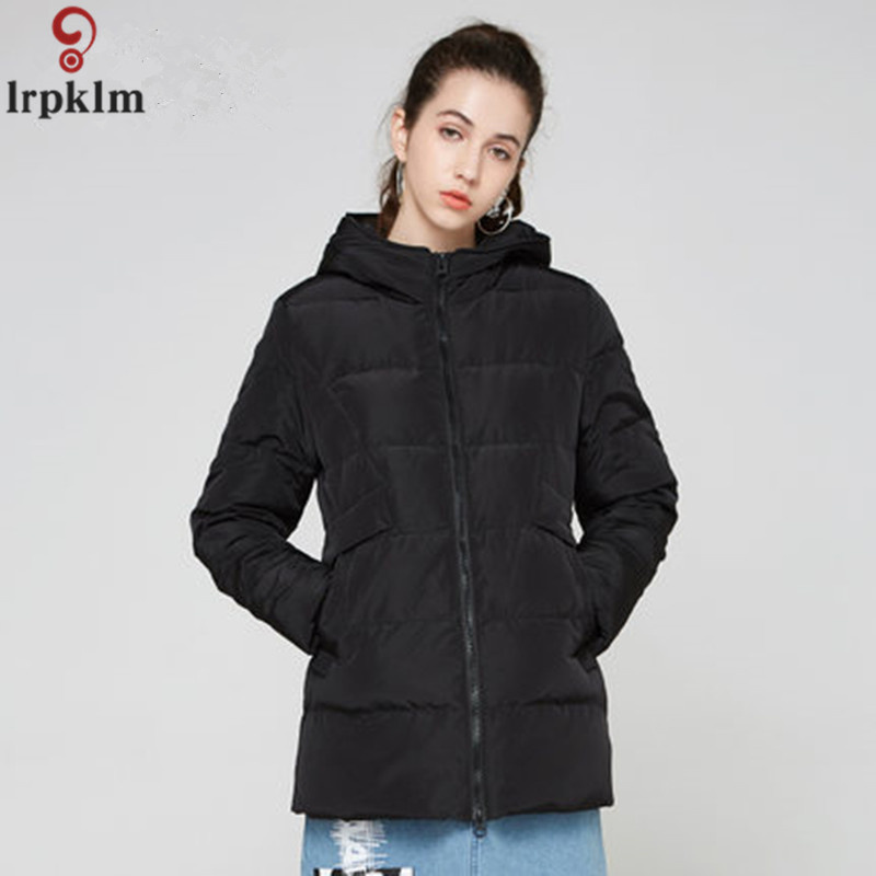 Down   Jacket Women's Winter Parkas Long   Down     Coat   2018 Ladies Grey Duck   Down   Jacket Solid Hooded   Coats   Plus Size S-5XL LZ961