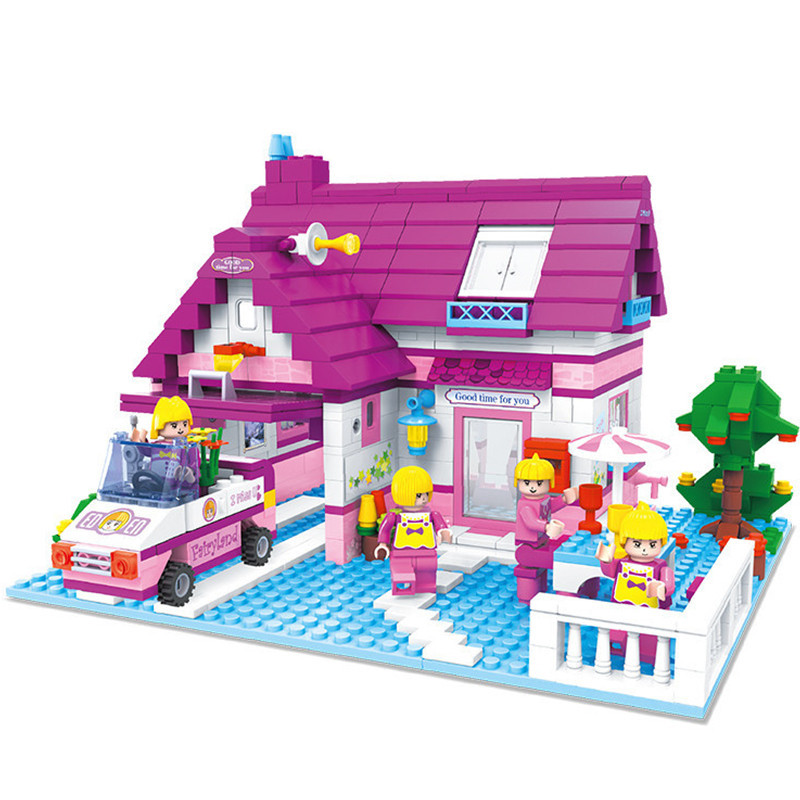 ФОТО 2016 New Rest Stop Building Blocks Compatible with toys Friends House Bricks Educational Toys Girl Birthday Gift Brinquedos