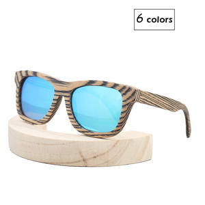 New Product Men/Women Wood Bamboo Sunglasses Zebra Grain Punk Style With Case BFW01JC