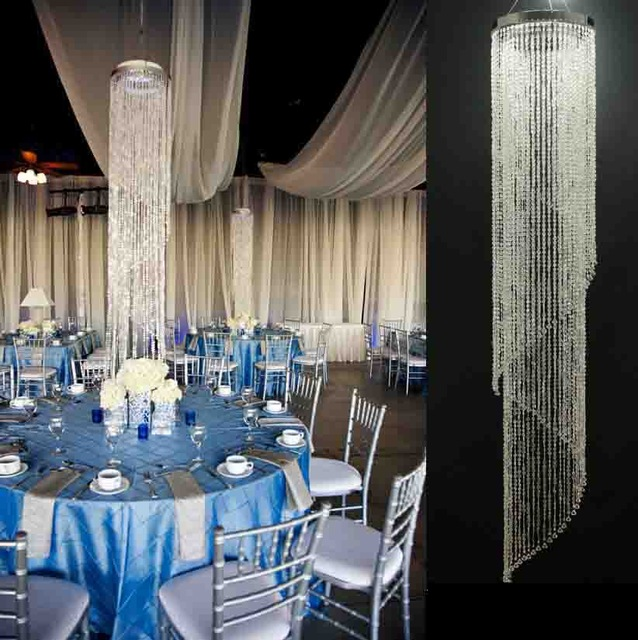 10pcs lotsacrylic crystal wedding centerpiecewedding column 10pcs lotsacrylic crystal wedding centerpiecewedding column hanging chandelier 180cm tall by 30cm diameter in party diy decorations from home garden aloadofball Images