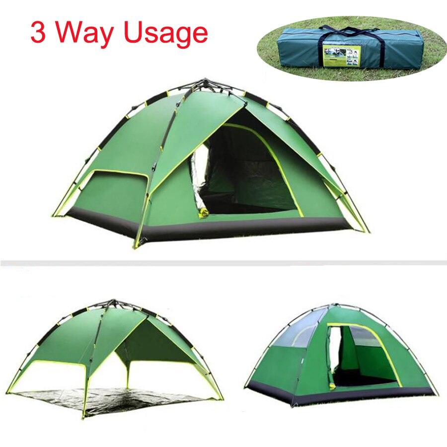 Ultraléger Hiver Pêche Tentes Camping En Plein Air Parapluie Oxford 2 Personnes Plage Jeter Pop Up Automatique Bivouac Chaud Tente Abri