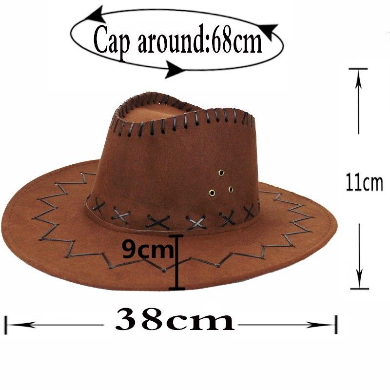 Aliexpress.com  Comprar Al por mayor nueva hombres mujeres Oeste Salvaje  vaquera Sombreros de vaquero occidental headwear Cap Classic cowboy  sombrero Sun ... d8b9f7e47cc