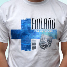 O Neck Brand Clothing Cotton Finland Flag Design White T Shirt Top Modern Tee - Mens Womens Kids Baby Sizesmens T Shirts