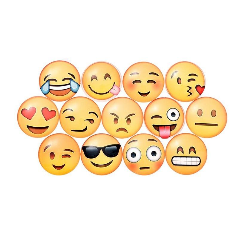 Mixed Cute Emoji Patterns Glass Fridge Magnets Sticker Cartoon Emoji Notes Message Sticker 7 Pieces/pack AA