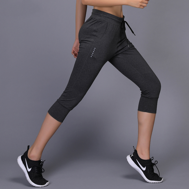 f65ab538a836 Women Running Pants sport Trousers lady Gym Fitness Training Pant Drawstring  sports Yoga Pants breathable Jogging Trousers