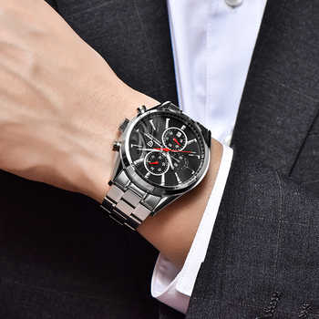 Men's Watches PAGANI DESIGN NEW Top Luxury Black Dial Quartz Watch Men Business Fashion Sports Chronograph Relogio Masculino