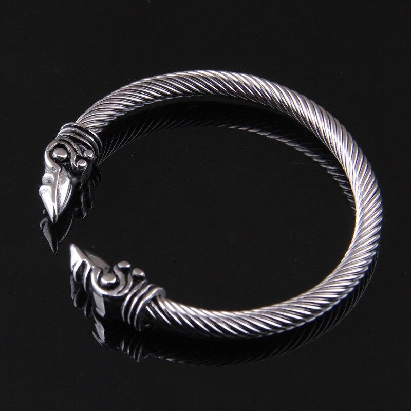 6eef1e471158 De acero inoxidable raven pulsera India accesorios de moda de la ...