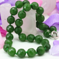 12mm natural stone Taiwan green jade jasper faceted round beads necklace choker statement women chain diy jewelry 18inch B3197