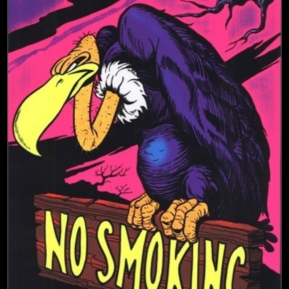 Black Light – No Smoking Vulture Laminated & Framed Poster (23 x 35)