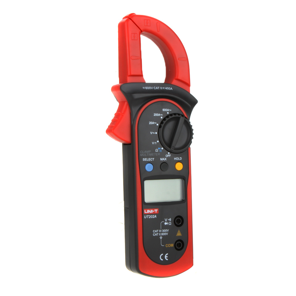 UNI-T UT202A Data Hold 600A DC/AC Voltage AC Current Resistance Digital Clamp Meters W/ MAX & MIN Mode ulyde uni t ut202a ac clamp meter 600a