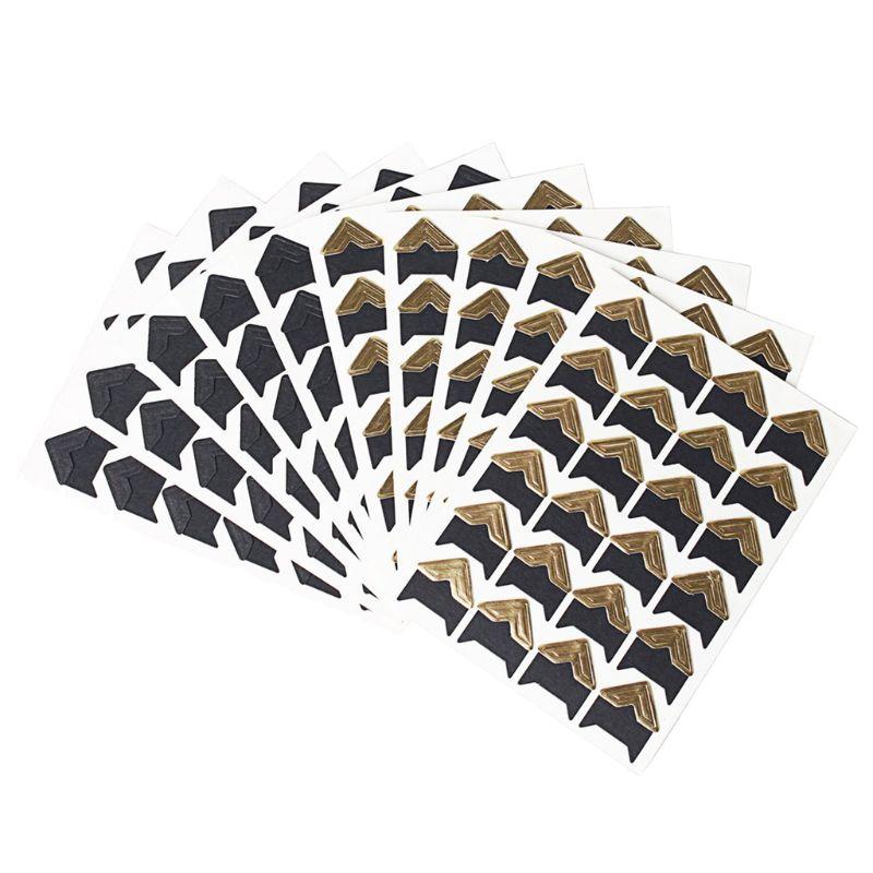 Купить с кэшбэком 10 Sheets Photo Corners Self Adhesive Stickers, Photo Mounting Paper Corner Stickers for DIY Scrapbook Albums