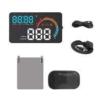 4 Inch Car HUD Head Up Display OBD2 EML327 Dashboard Speedometer Projector Speed Warning D2500
