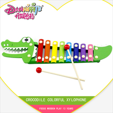 Golden Key Colorful 8 Scales Crocodile Knock On Piano Baby Kids Wooden Toddler Learning Education Musical Toy