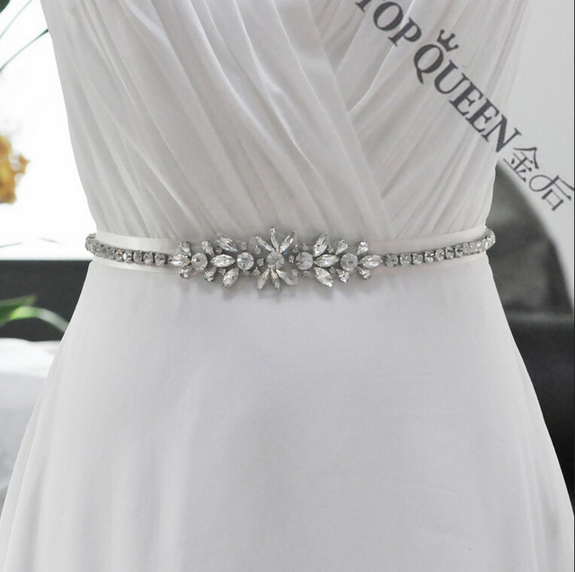 Women's Wedding Rhinestone Bride Bridesmaid Sash Belt Accessories S166 For the Wedding Evening Party Bridal Dress Prom Gown