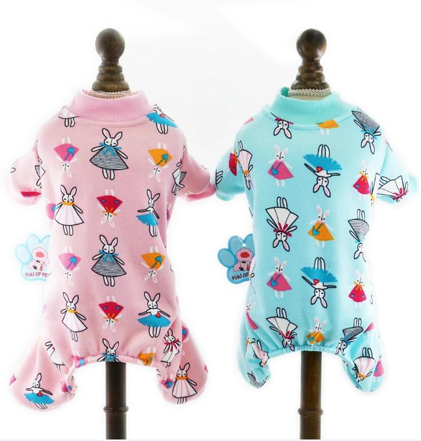 NEW Cartoon Pajamas for Small Pets Autumn Dog Jumpsuit Pet Clothes 2 Color XS S M L XL