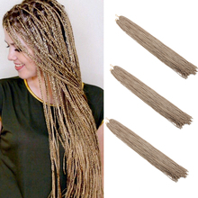 30 Long Synthetic Zizi Box Braids Crochet Braiding Hair Extension Pink Write Purple Colorful 28 roots/Pack 45g Lulalatoo
