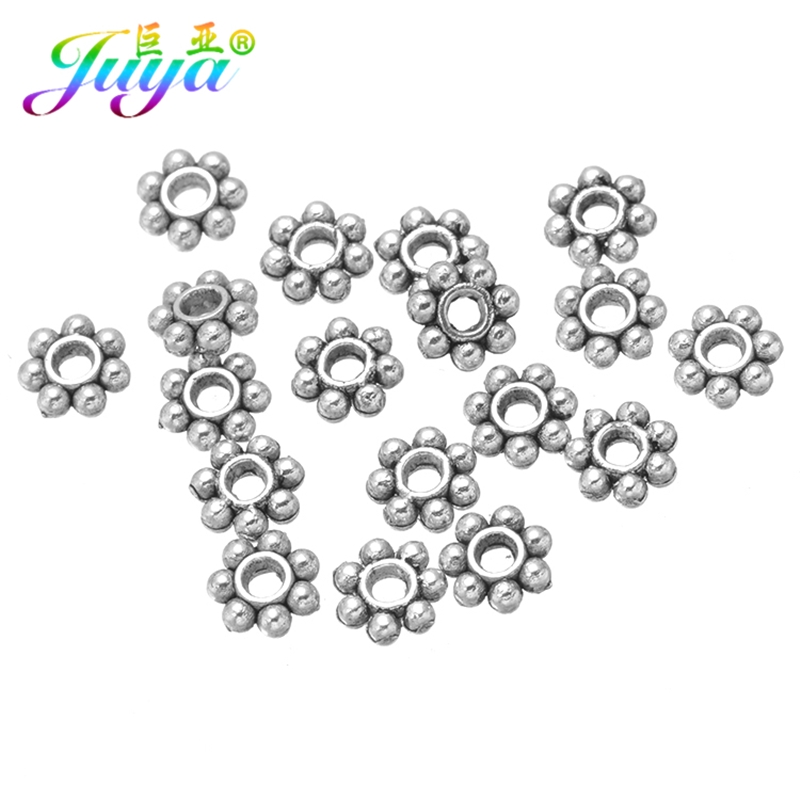 Silver Tone Flower//Snowflake//Daisy Spacer Beads in 5 sizes