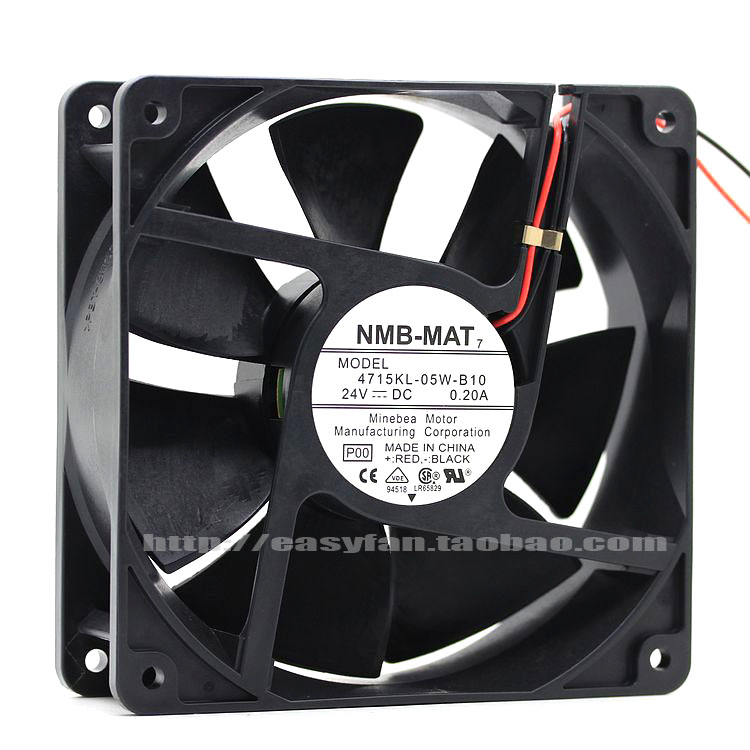 NEW NMB-MAT Minebea 4715KL-05W-B10 12038 24V 0.2A Double Ball bearing Frequency converter cooling fan genuine original nmb 92 92 38 24v 3615rl 05w b60 cooling fan of big air quantity of fan