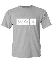 GILDAN The Elements Of Bacon Men's Very Funny Geek Science Shirt Nerd Math T Shirts