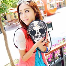 Women Black Skull Shoulder Bags Messenger Handbag Purse for Daily Shopping All-Purpose Hot Sale Fashion(China)