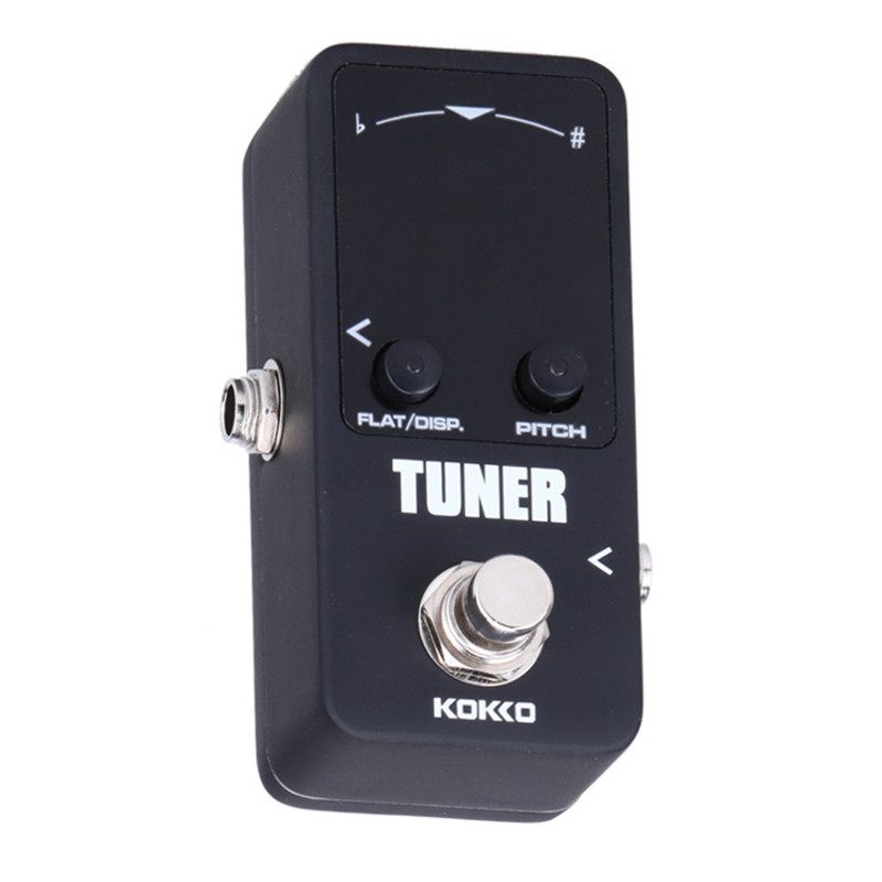 Mini Electric Guitar Pedal Tuner Effect Device Dual Display For Guitarra Bass Guitar Violin Ukulele Instruments Accessories