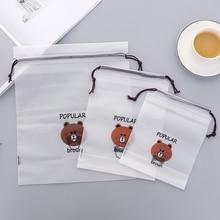 Brown Bear Transparent Cosmetic Bag