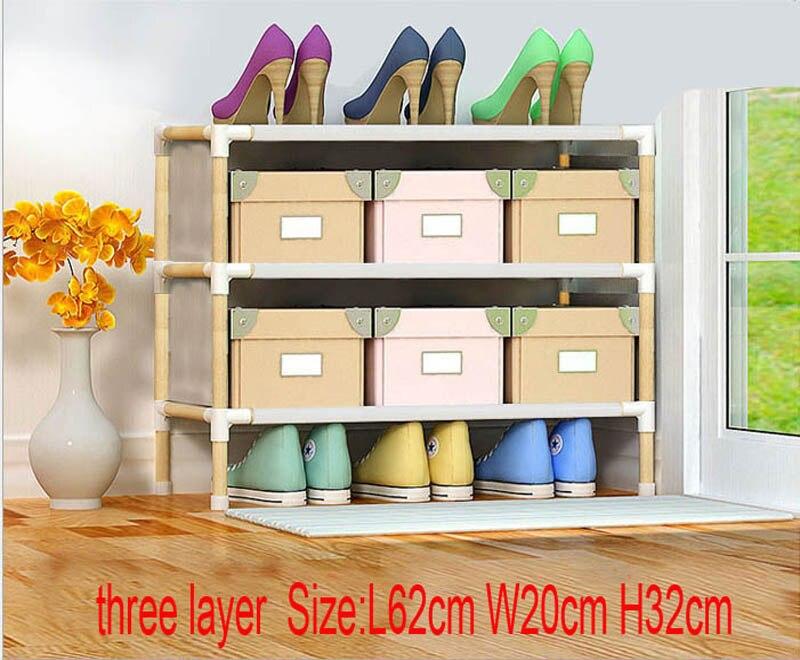 three layer wooden shoe rack  three layer wooden shoe rack
