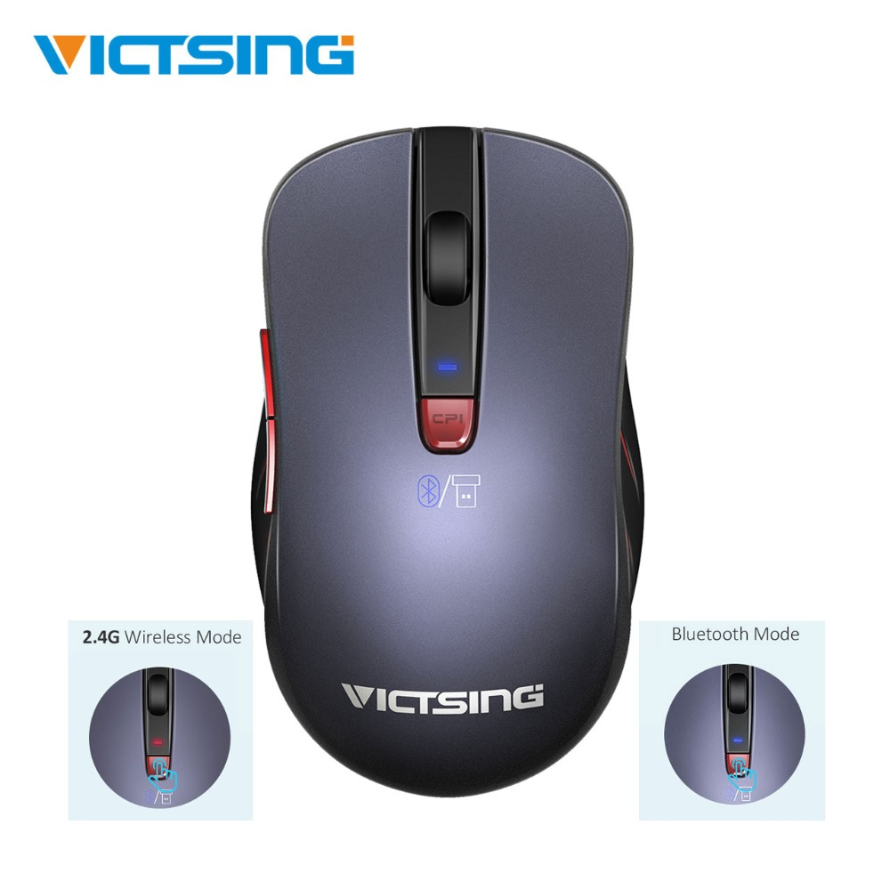 VicTsing 2.4G Wireless Mouse 6-Button DPI Adjustable Ergonomic Mouse Multi-Point Connections Bluetooth Mouse For Laptop/PC/Phone