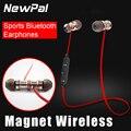 Магнит Беспроводная Спортивные Наушники Bluetooth Гарнитура супер Бас Стерео в уши наушники headsfree с микрофоном