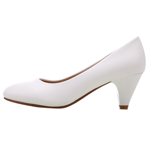 Image 3 - Yalnn 성숙한 여성 펌프 하이힐 신발 가죽 5 cm med 고품질 신발 화이트 블랙 펌프 office lady shoes