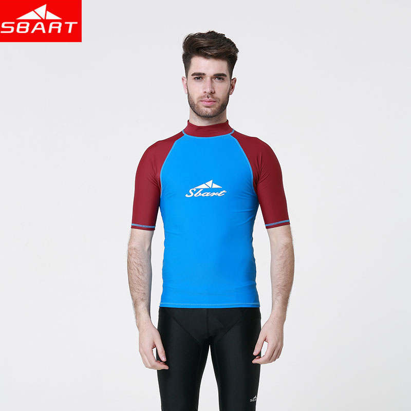 SBART fishing drifting Surf Man Swimming Suit Upft Sunscreen Swim Shirts Diving Men Suit Tops
