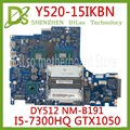 KEFU DY512 NM-B191 материнская плата для Lenovo Y520-15IKBN R720-15IKBN материнская плата для ноутбука NM-B191 GTX1050 оригинальный тест