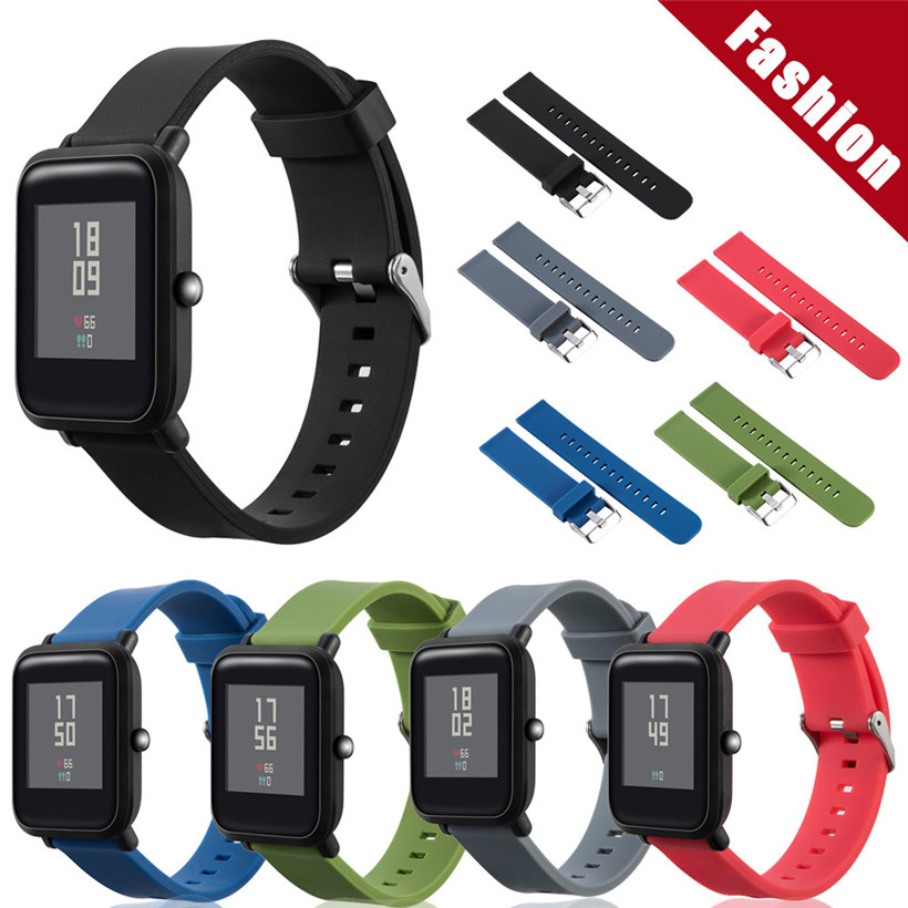 New Sports Soft Silicone Bracelet Strap Band For Huami Amazfit Smart Watch Youth drop shipping 1023