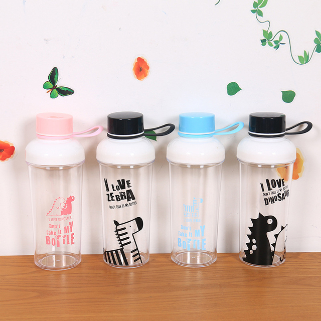 380ml sports plastic water bottles my anime bottle for water cartoon