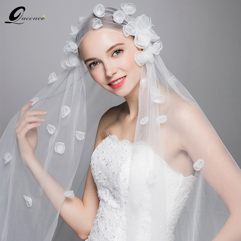 Long Wedding Hairstyles With Veil: Aliexpress.com : Buy New Ivory Floral Wedding Veil Long
