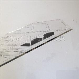 Image 4 - 2 Pcs DIY Patchwork Herrscher Kombination Erweiterte Acryl Patchwork Lineal Dicke 3mm Unterstützung Große Aufträge Schneider Lineal Stoff