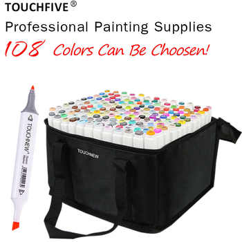 TOUCHFIVE 108 Colors Set Art Markers Brush Pen For Sketching Alcohol Based Markers Dual Head Manga Drawing Pens Art Supplies - DISCOUNT ITEM  29% OFF All Category
