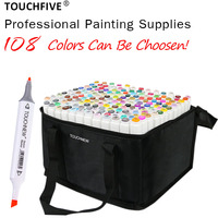 TOUCHFIVE 108 Colors Set Art Markers Brush Pen For Sketching Alcohol Based Markers Dual Head Manga Drawing Pens Art Supplies