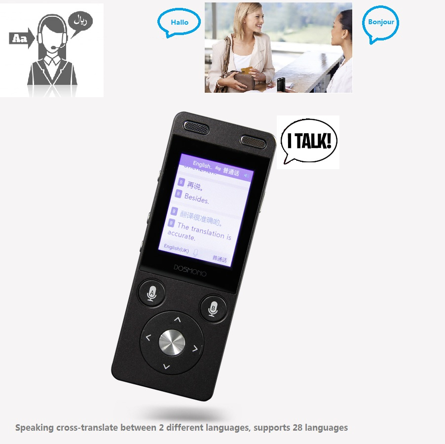 US $148 19 22% OFF|Talking Audio Recorder Language Translator Speech to  Speech /Text Speaking Voice Learning Tool 28 Multi language Translation-in