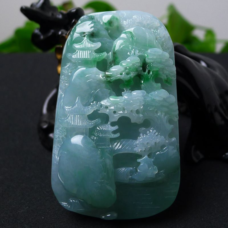 Myanmar natural A goods Colgante de jade necklace ice kinds of features Hand carved Alpine flowing water mood pendantMyanmar natural A goods Colgante de jade necklace ice kinds of features Hand carved Alpine flowing water mood pendant