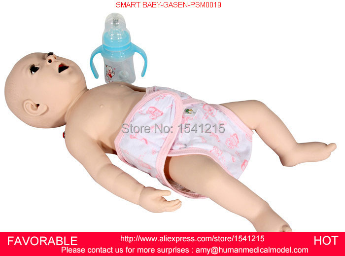INFANT NEWBORN MODEL,CHILD NURSING MODELS, MEDICAL NURSING BABY MODEL,BABY NURSING TRAINING MANIKIN,SMART BABY-GASEN-PSM0020 nursing baby child nursing manikin baby model infant first aid manikin full functional child nursing manikin gasen psm0023
