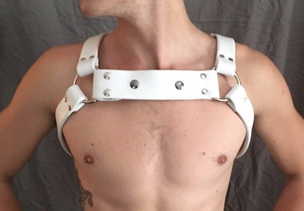 UYEE Handmade Crafts Leather Harness Garter Belts Restraints Chest Straps Leather Belt Strap For Men Harajuku Accessories LM-027