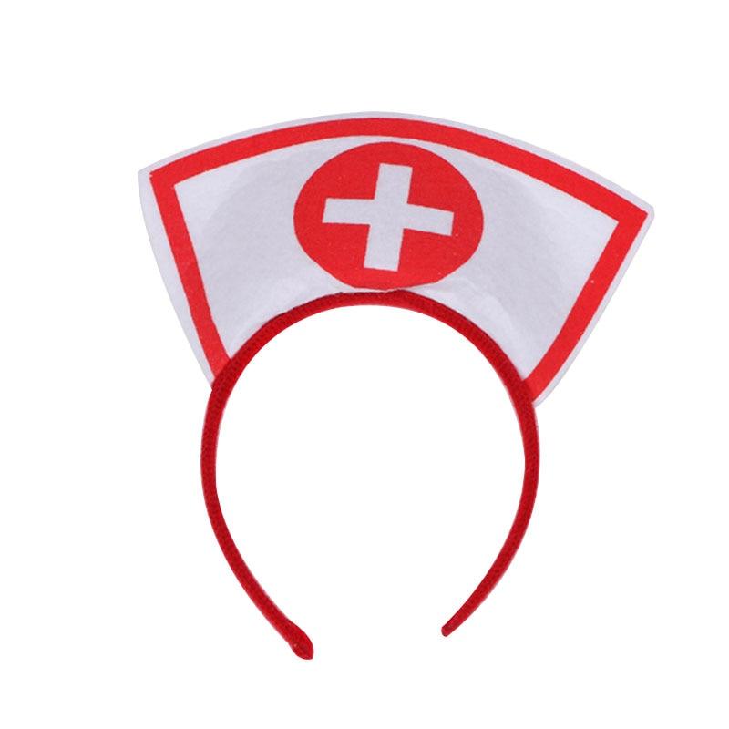 Halloween Party Naughty Nurse Headband Fancy Dress Up Cosplay Hairband