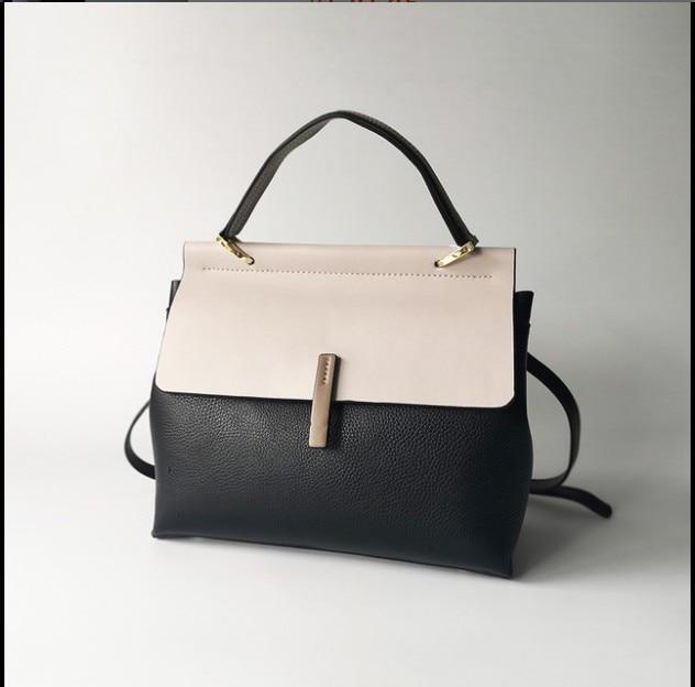 Dames décontracté fourre tout 100% en cuir véritable sacs à main de luxe femmes sacs à bandoulière Designer femme Messenger sac à main de mode-in Bandoulière Sacs from Baggages et sacs    2