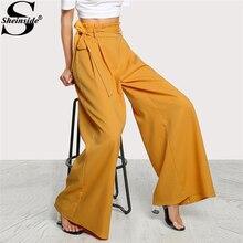 Pantalon Femmes Taille Haute Ceinturée Z ...