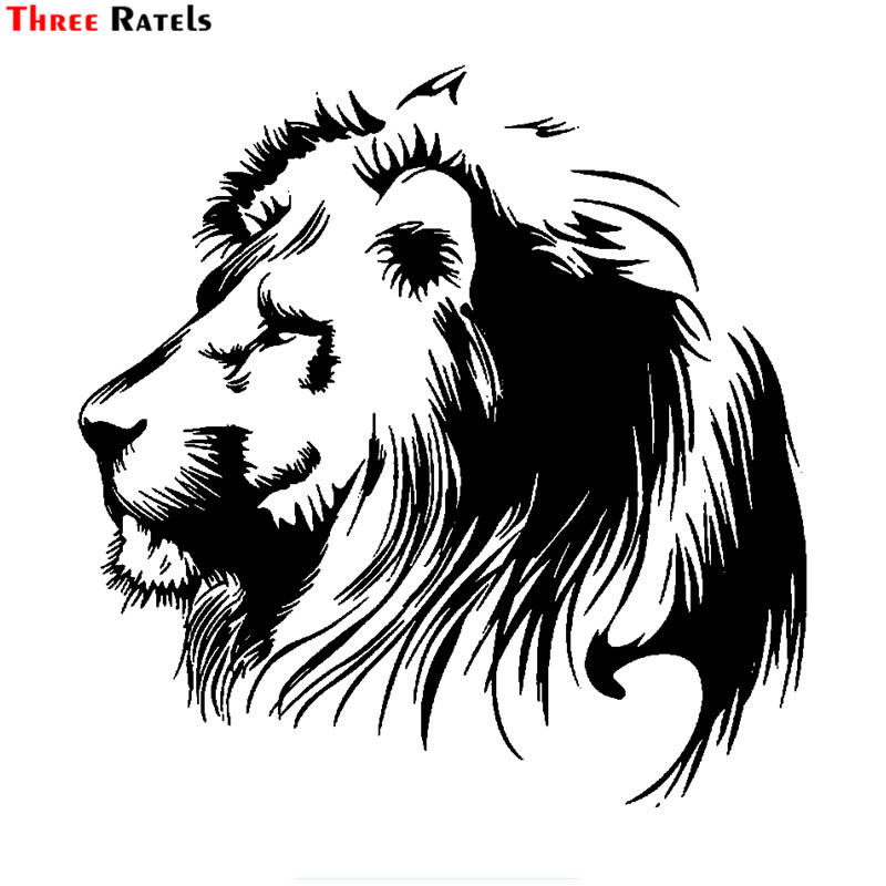 Three Ratels FTZ-19# 30x30cm Meditation Lion Vinyl Decals Car Sticker Motorcycle Individualization Car-styling