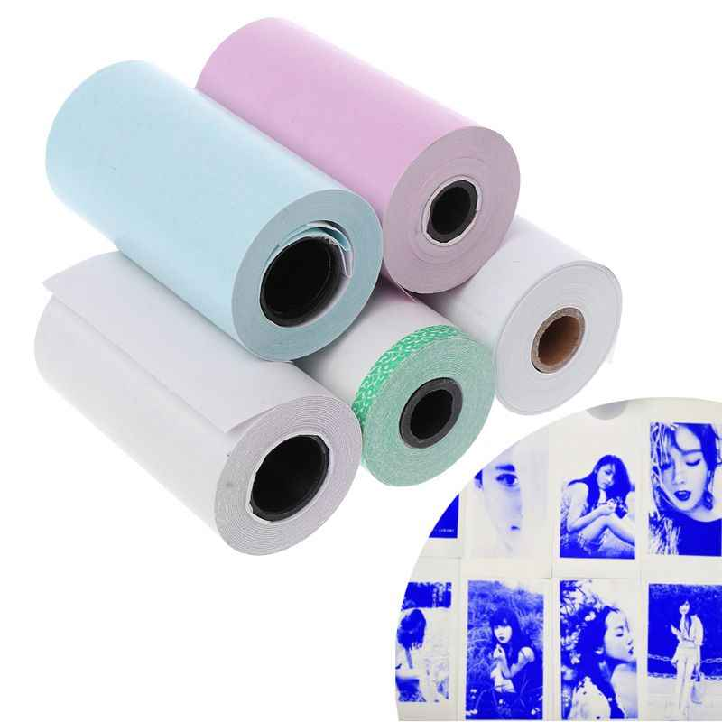 Papel fotográfico Mini adhesivo imprimible rollo de impresoras térmicas impresión transparente a prueba de manchas portátil