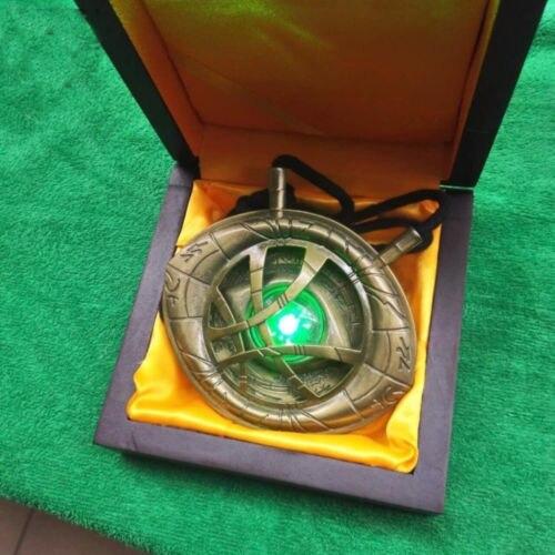 CATTOYS 1/1 Dr docteur étrange oeil d'agamotto amulette pendentif collier lumière LED