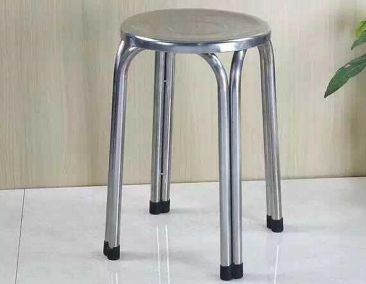 Wholesale 47*29cm Four-legged round stool Non-slip Stainless steel stools